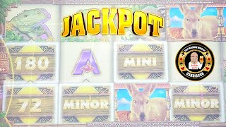 Cover images 💰MASSIVE JACKPOT HANDPAY💰 🦘Mighty Cash-Outback Bucks🦘