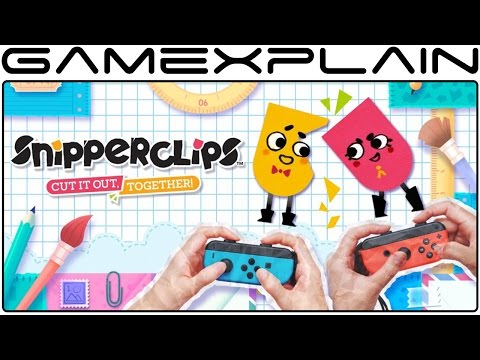 Snipperclips is a Switch Launch Game & Has a Free Demo; Europe Getting Joy-Con Bundle