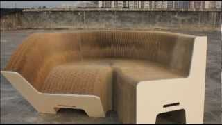 This video is not available. PaperSofa.com - Expandable Paper Chair - Flexible Paper Couch - Paper Furniture