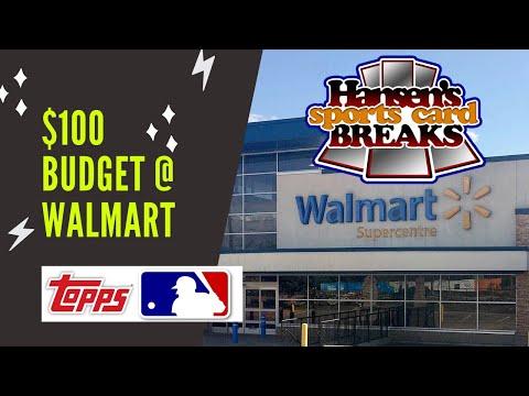 $100 Budget @ Walmart - Baseball Cards