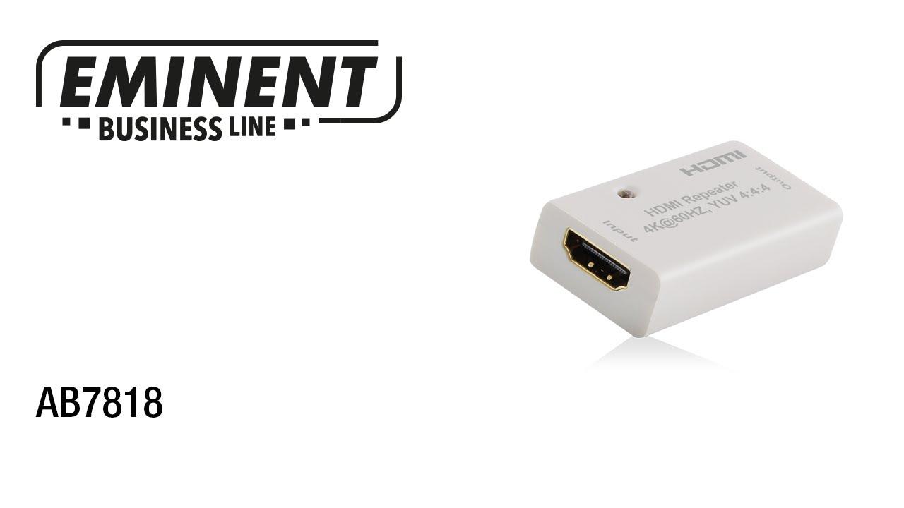AB7818 HDMI Repeater via HDMI kabel - YouTube