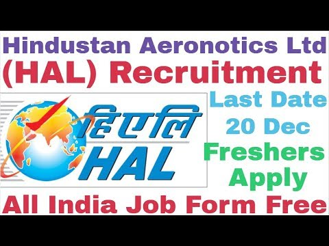 Hindustan Aeronotics Limited (HAL) Recruitment For Various Post