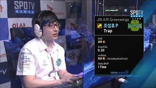 [SK 텔레콤 프로리그2015] 조성호(진에어) vs 한지원(CJ) 3세트 코다 -EsportsTV, 스타크래프트 2