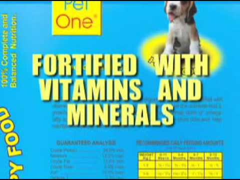Pet One Puppy Food Youtube