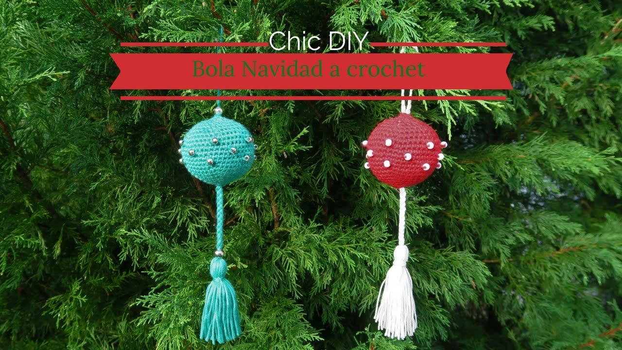 bola de navidad a crochet decoracin navidad chic diy