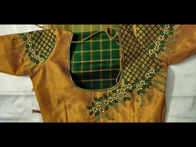 Top 10 Simple Thread Work Blouse Designs | Blouse Thread Work | Blouse Designs For Back And Front
