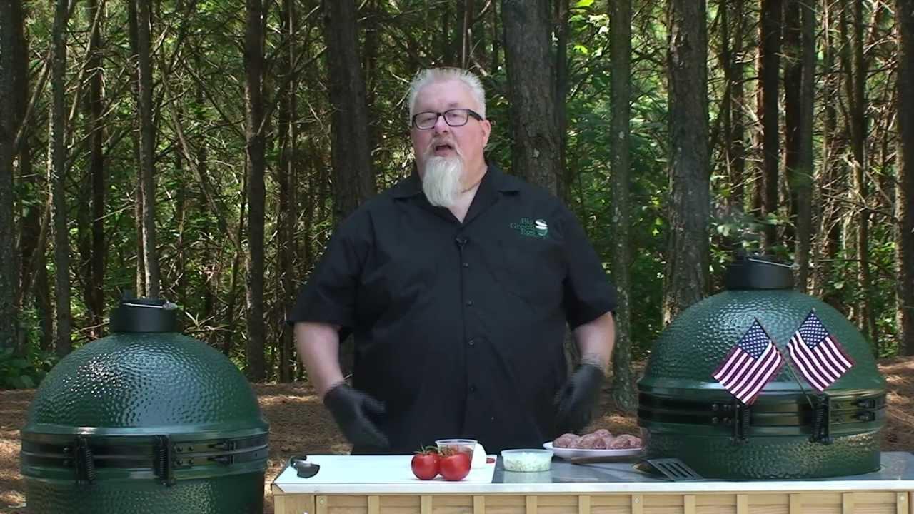 Dr. BBQ's Stuffed Burgers on the Big Green Egg - YouTube