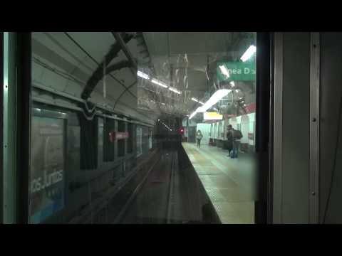 Buenos Aires地下鉄B線 営団地下鉄500形 全区間前面展望(Leandro N. Alem→Juan Manuel de Rosas)