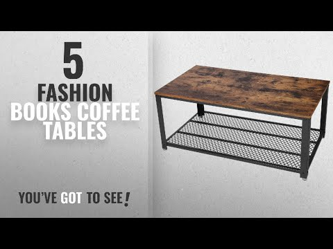 Top 10 Coffee Tables Fashion Books [2018]: SONGMICS Antique Coffee Table Vintage Cocktail Table with