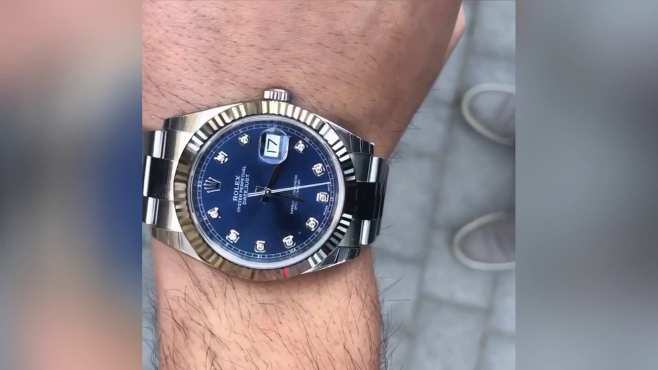7a975bc3bf8 Rolex Datejust 126334 Blue Diamond dial 41 mm Oyster bracelet   Wrist shot  by OfficialWatches