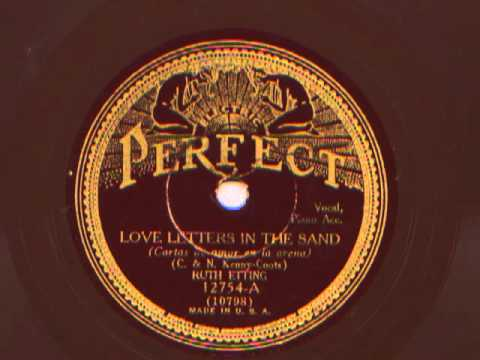 Love Letters In The Sand sung by Ruth Etting, 1931