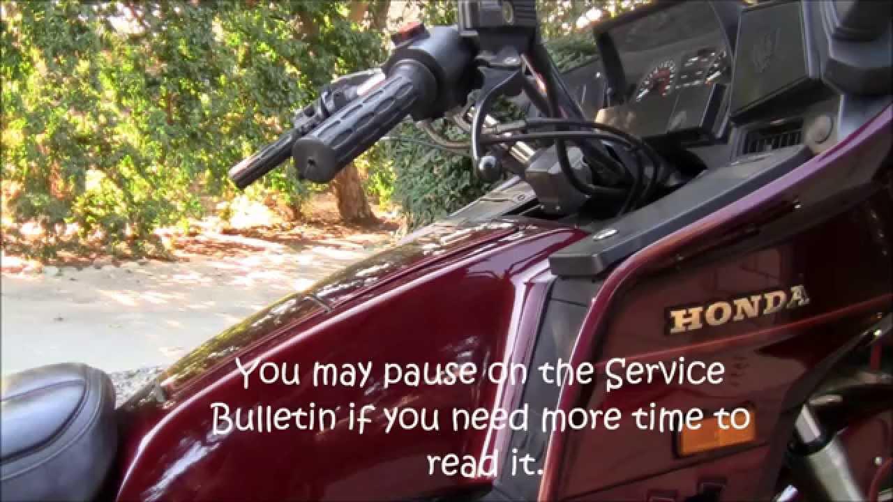 Gl1200 carb kit honda service bulletin youtube for Honda service bulletin