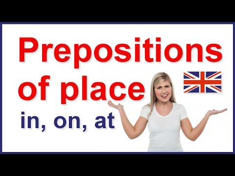 Prepositions Of Place - In, On, At | English Grammar