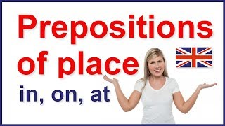 prepositions of place in on at   english grammar