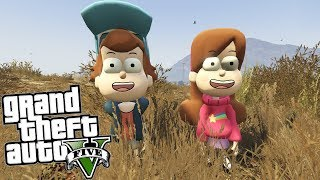 GTA 5 Mods - GRAVITY FALLS MOD w/ DIPPER & MABEL (GTA 5 PC Mods Gameplay)