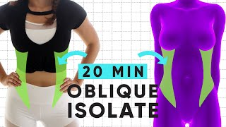 20 Minute Waist Shaping Workout | at home exercises for sleek obliques