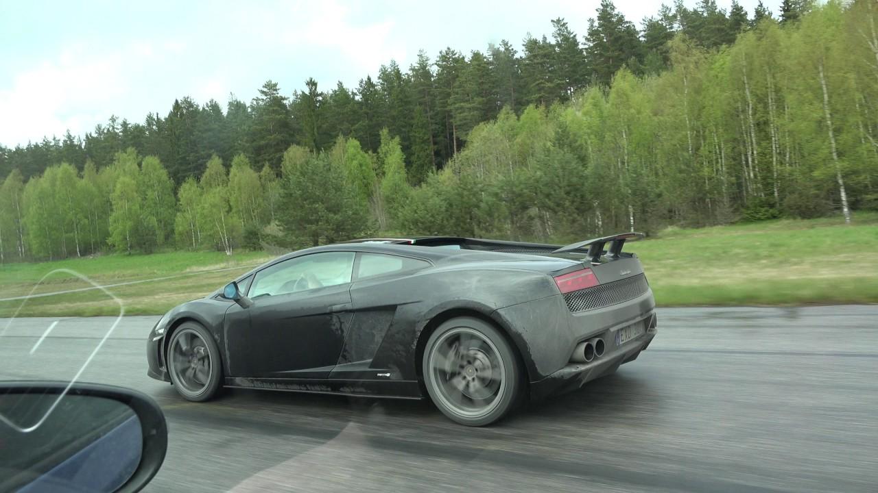 4k Uncut Lamborghini Gallardo Lp550 2 Tricolore Vs Hgp Vw Golf Vi R