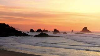 1 Hour of Relaxing Ocean Waves at Sunset (HD)