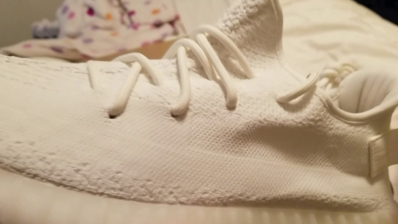 5c6c15638a97f Yeezy 350 V2 Cream White HD Review StockX pickup 100% Authentic ...