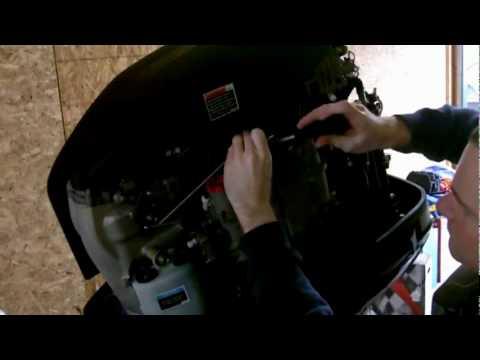 2008 Mercury OptiMax 250 Pro XS Maintenance Fuel Filter - YouTube