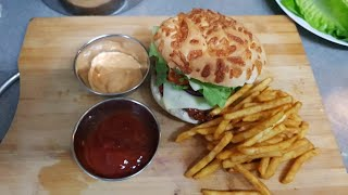 Probably the best teriyaki chicken burgers ever