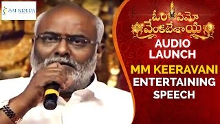 MM Keeravani Entertaining Speech | Om Namo Venkatesaya Audio Launch | Nagarjuna | Anushka | Pragya