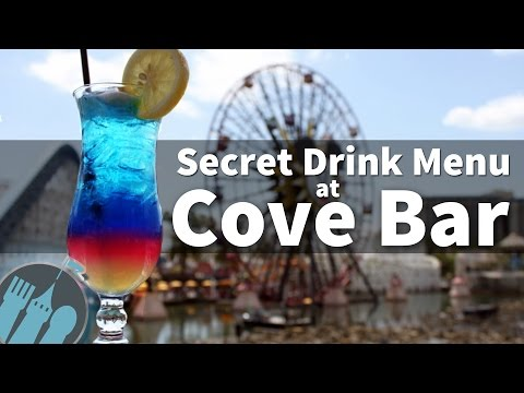 The Secret Drink Menu at Cove Bar in Disney California Adventure!