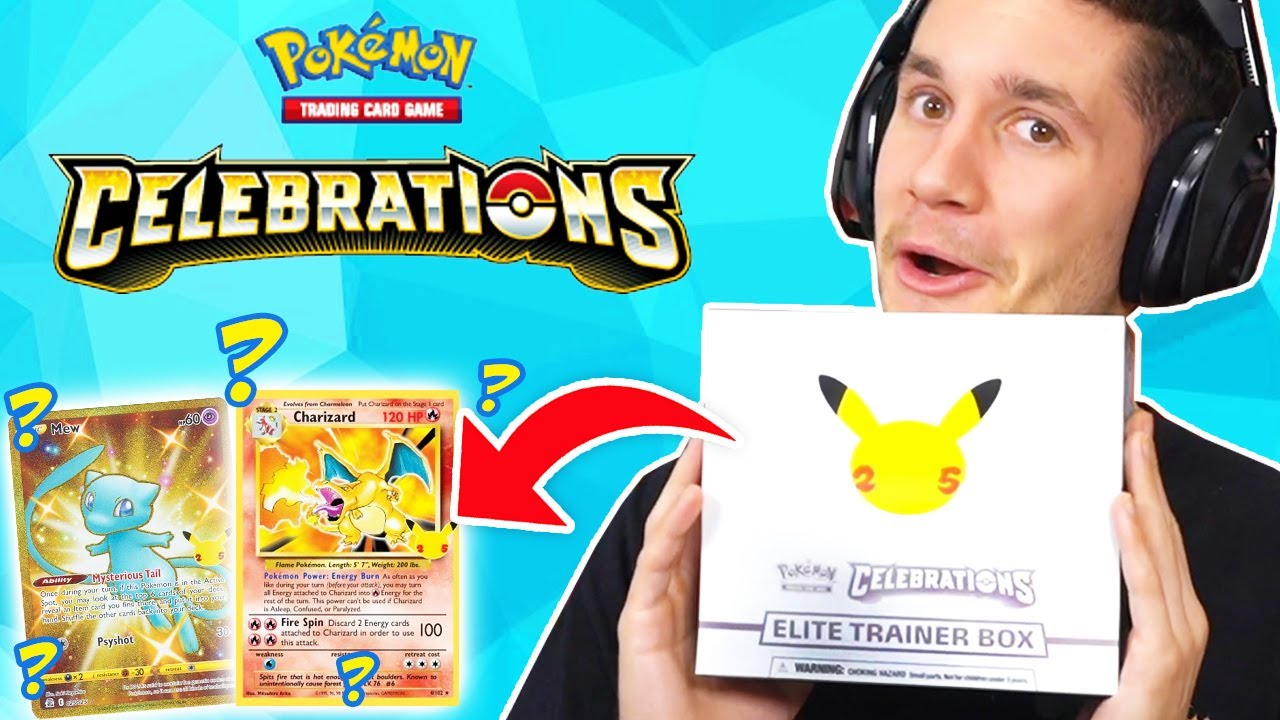 Download MY FIRST POKEMON CELEBRATIONS ELITE TRAINER BOX OPENING!