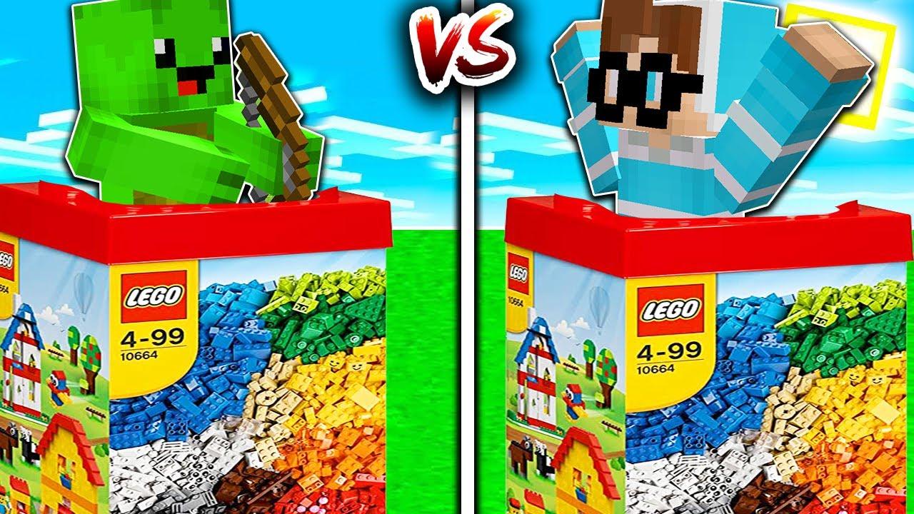 DENDY LEGO BURG vs. BUFLO LEGO BURG in Minecraft!