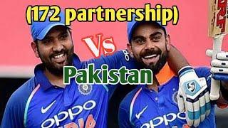King Kohli & Rohit Sharma great winning partnership against Pakistan in Asia cup 2012!!!!