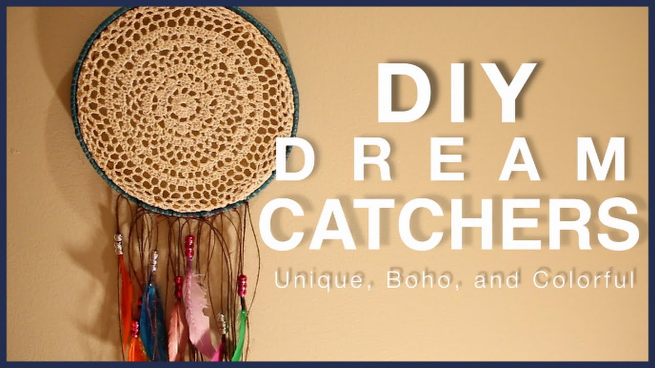 What Do The Beads Mean On A Dream Catcher DIY DREAM CATCHERS Unique Bohemian Colorful YouTube 19