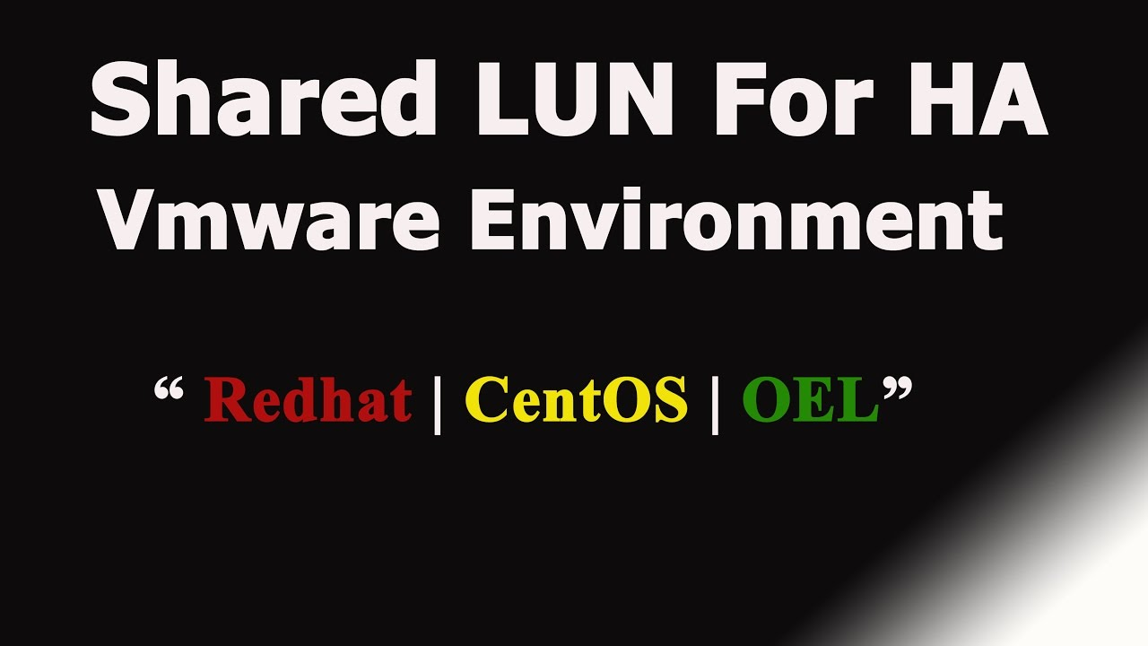 how to create lun in vmware
