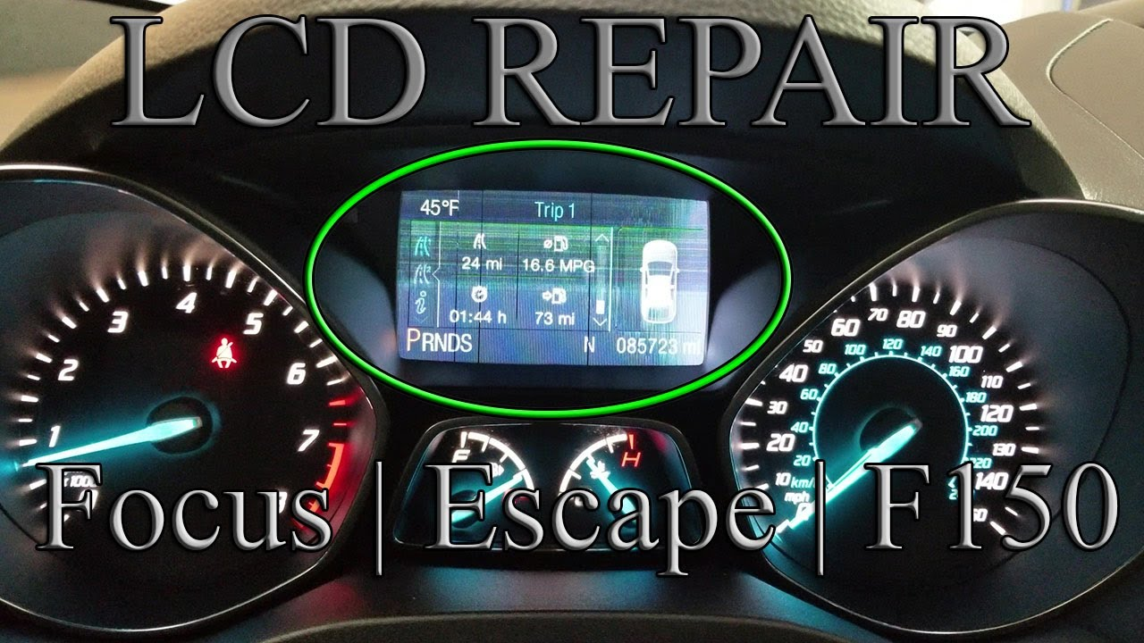 2013 2016 ford focus escape dash cluster lcd display problem how [ 1280 x 720 Pixel ]