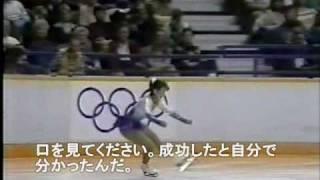 【字幕つき】 Midori Ito アメリカ実況 88五輪 (0:20~前の人の芸点に注目)