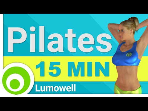 15 Minute Pilates Workout. Exercises for a Toned, Slim Body