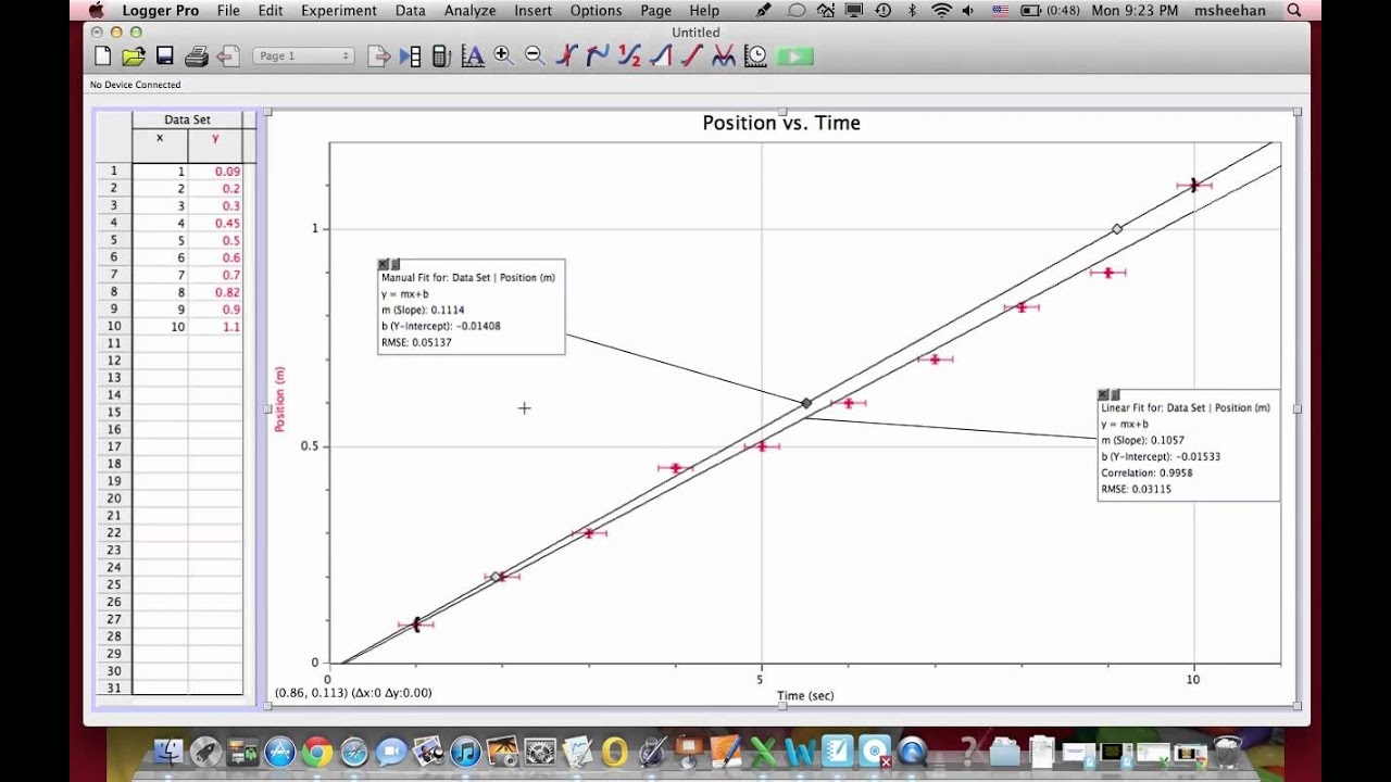 how to find the slope of a trendline in excel