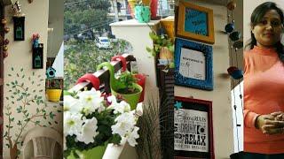 2nd Balcony Tour/Balcony Garden Organization Ideas/DIY Decor/Decorating/anveshascreativity