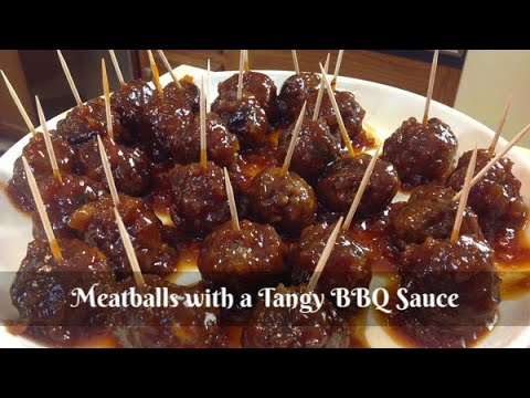 Homemade Meatballs In A Tangy BBQ Sauce ~ Cocktail Meatballs ~ Easy Appetizer ~ Amy Learns To Cook