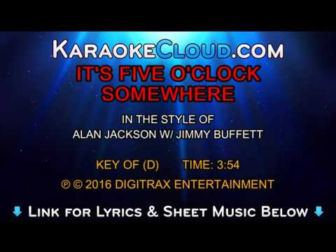 Alan Jackson w/ Jimmy Buffett - It's Five O'Clock Somewhere (Backing Track)