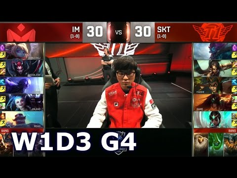 SKT vs IM - Worlds 2016 Week 1 Day 3 Group B | LoL S6 World Championship I May vs SK Telecom T1