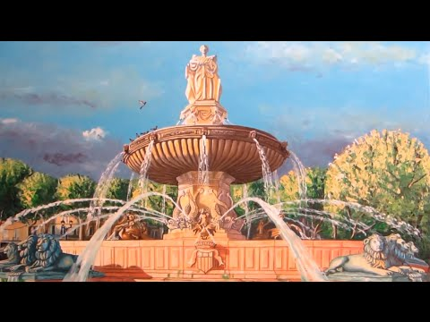 Fontaine De La Rotonde D AixEnProvence Peinture Huile Sur Toile