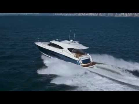 Riviera 5400 Sport Yacht  beautiful blue hull (New Video)
