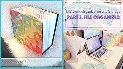 DIY File Organizer from Recycled Box - Desk Organization and Storage Ideas (3)