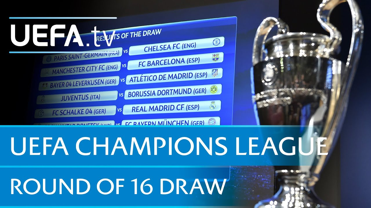 UEFA Champions League round of 16 draw - YouTube