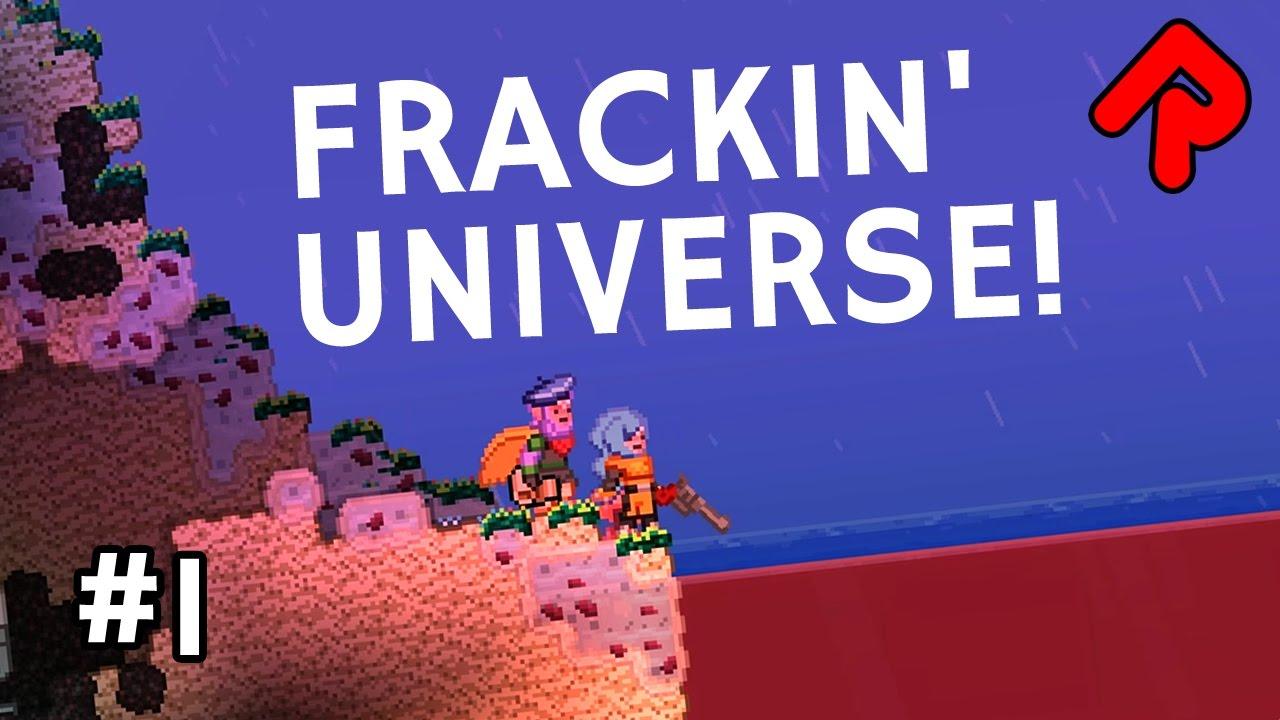 Let's Play Starbound Frackin' Universe mod ep 1: Best Starbound mod?