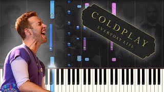 Coldplay - Bani Adam بنی آدم - EASY Piano Tutorial + Sheet Music (Everyday Life album)