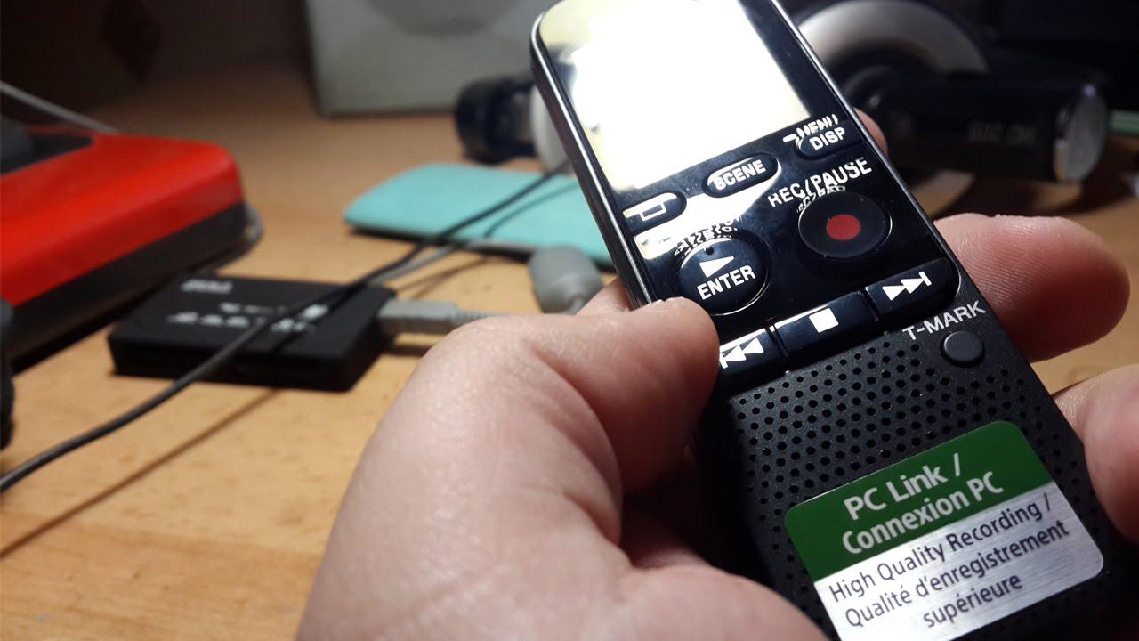 Цифровой диктофон Sony ICD-BX140 4Gb серебристый - YouTube