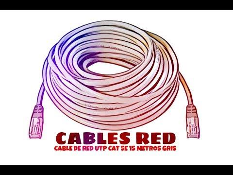 Video de Cable de red UTP CAT5E 15 M Gris