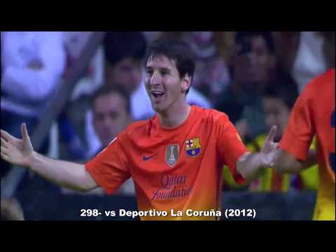 Goles de Messi en 2012 con relatos.