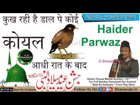 कुख रही है डाल पे कोई कोयल आधी रात के बाद | Dal Pe Koi Koyal Aadhi Raat Ke Bad | Haider Parwaz Naat